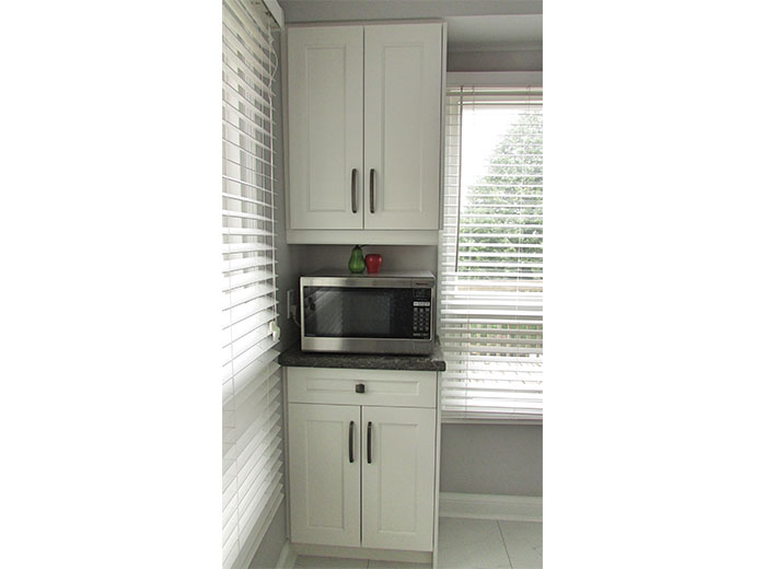 Made to measure cabinets fit perfectly in the allotted space