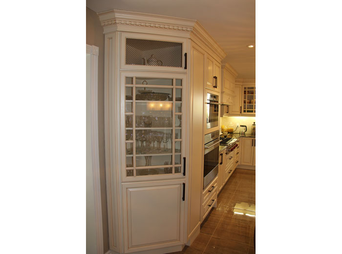 Traditional Kitchen With Antique White Custom Kitchen