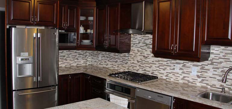 Custom kitchens featured projects by millo kitchens and for Granite countertops price per linear foot