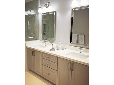 Painted MDF Double Sink custom vanity