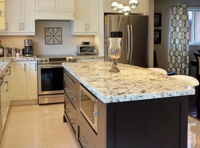 Transitional Canadian Maple Kitchen with Granite ... on Maple Cabinets With White Granite Countertops  id=61886