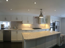 Custom Kitchen with Painted MDF Cabinets