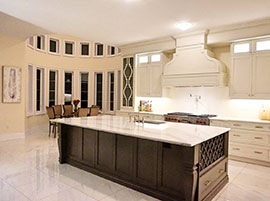 "Custom Design Transitional Kitchen <a href=""solid-canadian-maple-custom-cabinets-with-cambria-brittanicca-countertop.html"">Click here to view this kitchen project</a>"