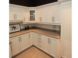 Shaker-style thermal laminate kitchen cabinets