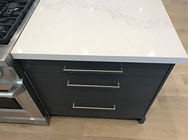 Custom Island with Quartz Countertop